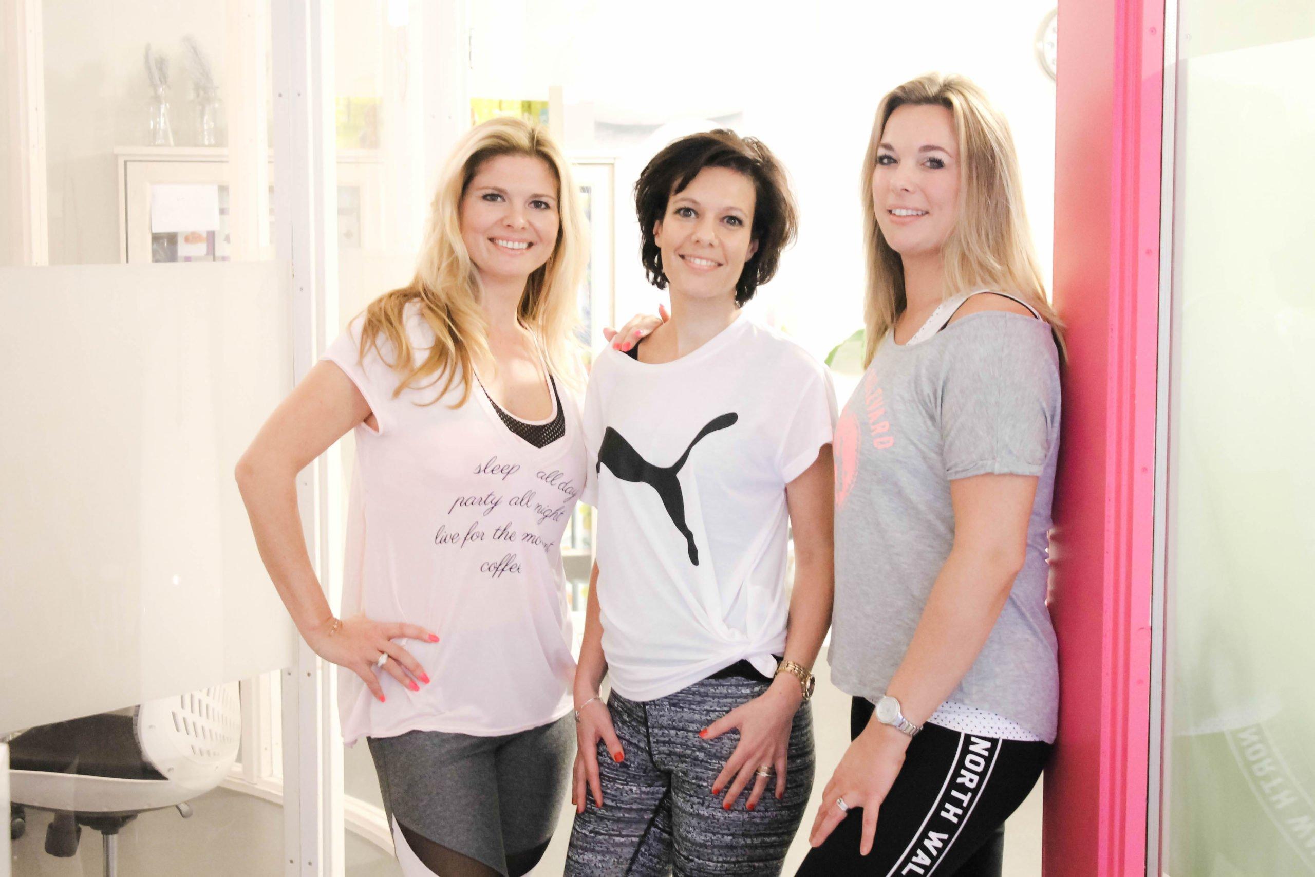 Gewichtsconsulente Rachel Hulshof, Anja van Dinter en Virginia van der Made
